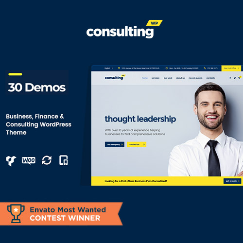 Consulting Business Finance WordPress Theme