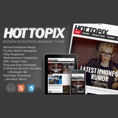 Hot Topix Modern WordPress Magazine Theme