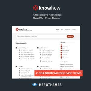 KnowHow A Knowledge Base WordPress Theme