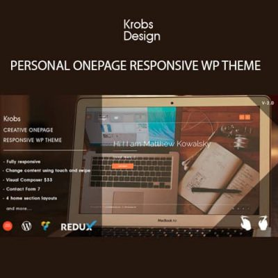 Krobs Personal Onepage Responsive WP Theme